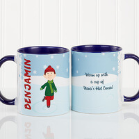 Personalized Ice Skating Character Coffee Mug -..