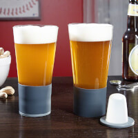Self-Chilling Beer Glasses, Set Of 2
