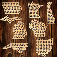 Beer Cap Map Of Your Home State
