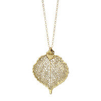 Antique Gold Aspen Necklace