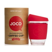 Joco: 12oz Reusable Glass Cup - Red