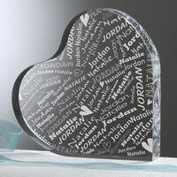 Personalized Heart Keepsake - Couple In Love