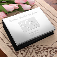 Engraved Silver Wedding Photo Album - Love Ever..