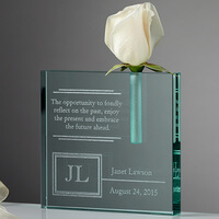 Personalized Retirement Bud Vase