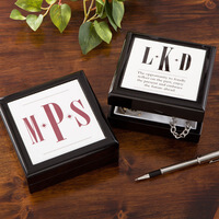 Personalized Keepsake Box For Men - Monogram