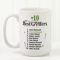 Large Golf Coffee Mugs - Top 10 Golfers