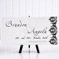Personalized Wedding Canvas Art - Wedding Couple