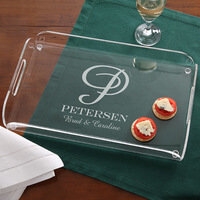 Personalized Serving Tray - Monogram & Name