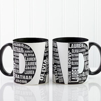 Personalized Dad Coffee Mugs - Repeating Names -..