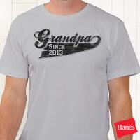 Personalized Grandfather T-Shirt - Grandpa Since