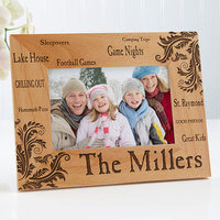 Engraved Wood Picture Frames - Family Pride - 4x6
