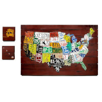 Reclaimed License Plate Map
