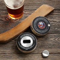Game-Used Hockey Puck Bottle Opener