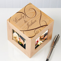 Personalized Picture Frame Cubes - Couple In Love