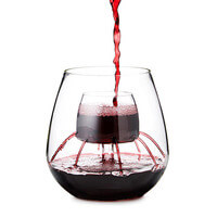 Stemless Fountain Aerating Wine Glass Set