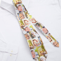 Personalized Photo Collage Ties - Favorite Faces