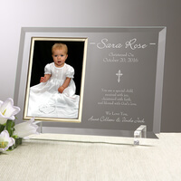 Engraved Christening Picture Frames - Christened..