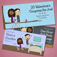 Personalized Romantic Coupon Book - Valentines..