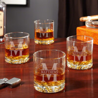 Oakmont Personalized Buckman Whiskey Glasses,..