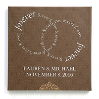 Personalized Wedding Canvas Print 12x12 Forever..