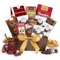 Coffee And Chocolates Gift Basket Classic