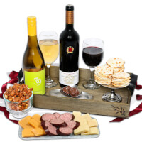 Wine Party Picnic Gift Basket