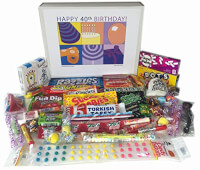40th Birthday Gift Box Of Retro Candy