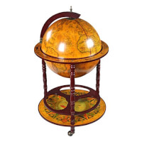 16th-Century Italian Replica Globe Bar