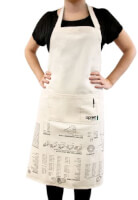 Apron With Cooking Guide
