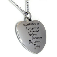 Nurses Prayer Heart Shaped Pendant