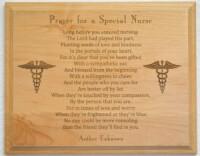 Prayer For A Special Nurse Plaque