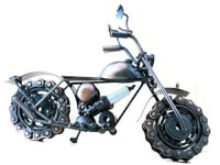 Metal Motorcycle Sculpture