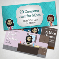 Personalized Romantic Coupon Book - Mothers Day