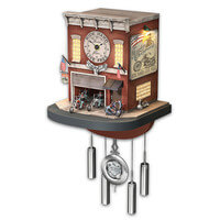 Freedom Choppers Wall Clock With Lights, Sound,..