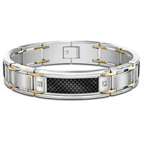 Dressed To Thrill Stainless Steel Diamond Mens..