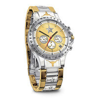 Texas Lone Star Diamond Mens Chronograph Watch