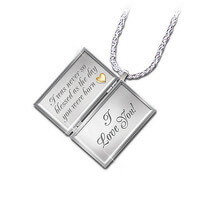 Dear Daughter, Letter Of Love Diamond Locket..