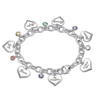 Heartfelt Wishes Charm Bracelet For Daughter