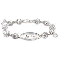 Personalized ID-Style Bracelet For Daughter With..