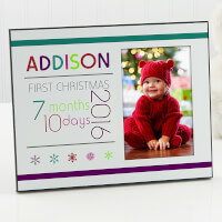 Personalized First Christmas Picture Frames -..