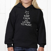 Keep Calm Personalized Apparel - Youth Hooded..
