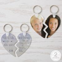 Personalized Break Apart Heart Keyring - Best..