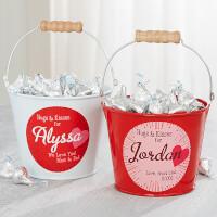 Hugs & Kisses Personalized Mini Treat Bucket -..
