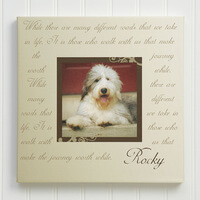 Paw Prints On Our Hearts Photo Pet Memorial..