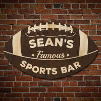 Football Fan Personalized Sports Bar Sign..