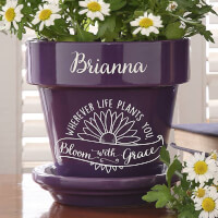 Personalized Flower Pot - Inspiration To Grow -..