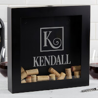 Personalized Wine Cork Shadow Box - Square..