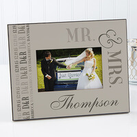 Personalized Wedding Picture Frames - We Said I Do