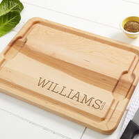 Personalized Maple Cutting Board - Family Name..