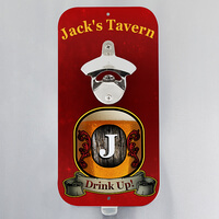 Personalized Magnetic Bottle Opener - Vintage Bar